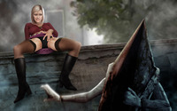 pyramid head hentai albums hentai wallpaper mix toons maria pyramid head ranged weapon silent hill wallpapers unsorted