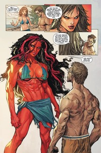 red she hulk hentai mty superheroines fan art glitch hulk