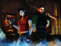 resident evil e hentai resident evil wallpaper chris claire ethaclane clair redfield hentai efc fef jill