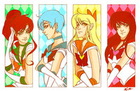 sailor moon e hentai sailor scouts colored kmwoot jhf morelikethis digitalart