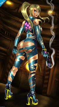 samus zero suit hentai therealshadman samus battledamage pictures user