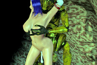 sexy creatures hentai dmonstersex scj galleries sexy creature gives blow jay lover hentai