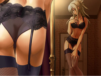 sexy hentai galleries hentai gallery album stockings socks pantyhose black sexy blond posing ass
