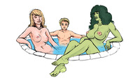 she hulk e hentai bff fantastic four franklin richards marvel hulk sue storm beehive