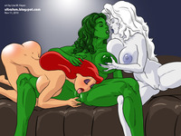 she hulk hentai comics lusciousnet hulk jessica rabbit pictures album crossover comic book lesbians licks wonder woman