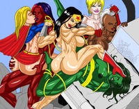 she hulk hentai marvel power girl hulk rulk storm supergirl superman wonder woman men crossover cssp