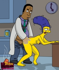 simpsons hentai images facaf drawn hentai julius hibbert marge simpson simpsons