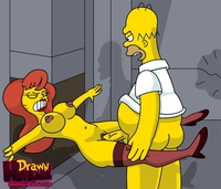 simpsons hentai ms drawn hentai homer simpson mindy simmons simpsons