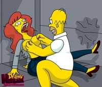 simpsons hentai drawn hentai homer simpson mindy simmons simpsons