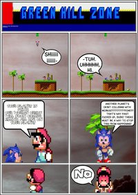 sonic and mario hentai sonic mario when planets collide sonicgoesgreen cuz art