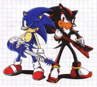 sonic and shadow hentai sonic shadow srms maxus fox art