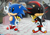 sonic and shadow hentai mini sonic shadow colored naomithecat morelikethis artists