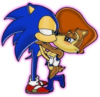 sonic sally hentai sonic kisses sally sonictopfan art