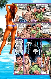 starfire hentai comic beachside