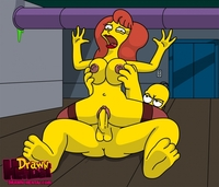 the simpsons hentai pic drawn hentai homer simpson mindy simmons simpsons