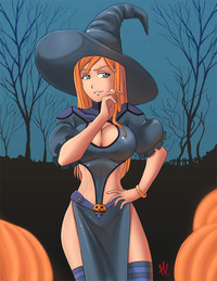 halloween hentai orihime witch colors hvond rhe ring halloween special hentai coffin match