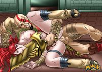 heavenly sword hentai eca dudecrazy god war heavenly sword kratos nariko crossover
