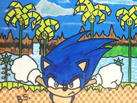 human sonic hentai sonic hedgehog green hill zone act painted sampson falt morelikethis traditional paintings