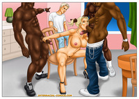 interracial cartoon hentai pics astonishing group fuck interracial cartoons