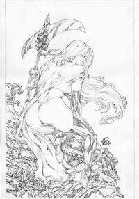lady death hentai pre cover lady death pencil renato camilo renatocamilo morelikethis fanart cartoons traditional