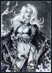 lady death hentai lusciousnet sexy undead woman chaos pictures album lady death purgatori lesbian