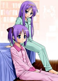 lucky star tsukasa hentai bed blue eyes blush cellphone