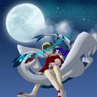 lugia hentai flying lugia under night sky minawa chiaki