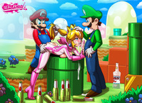 mario sex hentai princess peach hentai threesome fuck mario luigi