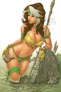 marvel comics hentai rogue debalfo colored splicer mbwzo savage land artwork mike
