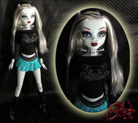 monster high hentai monster high frankie stein custom ooak doll jvcustoms vswl art