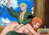 nami hentai blowjob media original nami roronoa zoro one piece hentai world shower