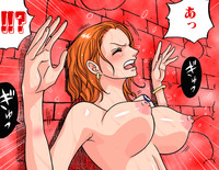 nami hentai pics nami against wall one piece hentai media