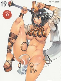 queen s blade melona hentai girl armpits black hair blue ctr wardrobe malfunction