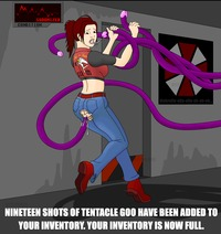 resident evil claire redfield hentai ccb anal brown hair claire redfield clothed cumdrip cum ass string handjob poorly drawn resident evil surprise tentacle torn clothes white skin