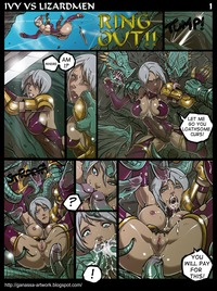 starcraft hentai gallery cfh page colored lettered ivy lizardmen