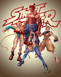 street fight hentai pre street fighter combo colored maehao morelikethis fanart digital painting games