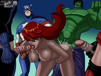 the avengers hentai lusciousnet black widow avengers pictures album xxx page